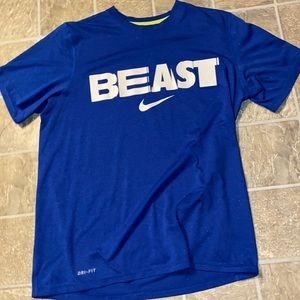 Beast blue Nike tee shirt